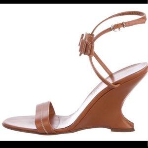 Authentic Salvatore Ferragamo wedge sandals